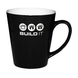 svartur bolli með þínu logoi