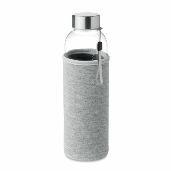 Glerbrúsi í ljósblárri neoprene hulsu. 500 ml. Motif