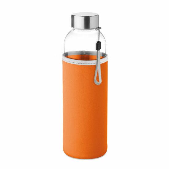 Glerbrúsi í orange neoprene hulsu. 500 ml. Motif