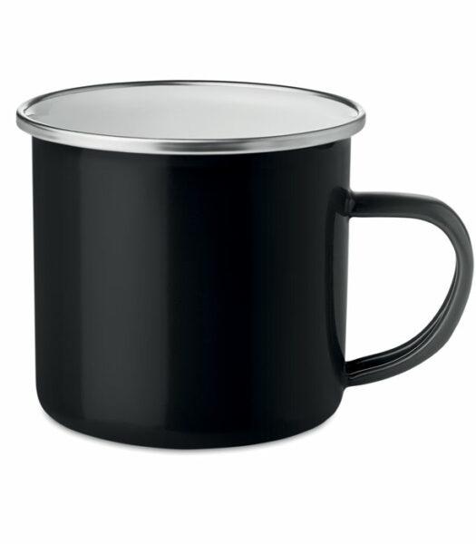 svartur retro bolli með texta eða logo