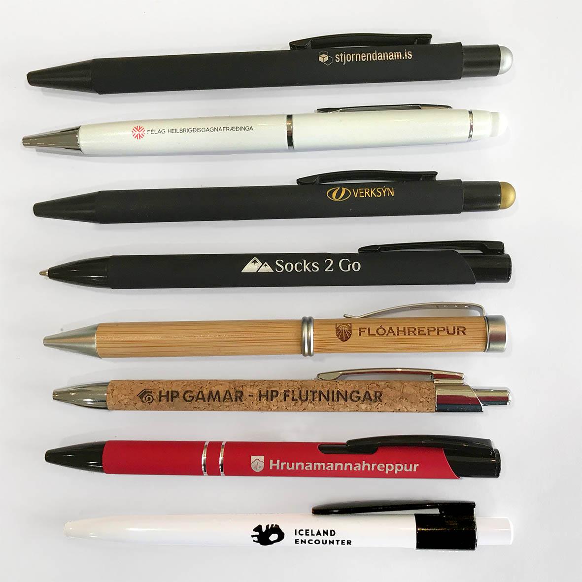 pennar með sérmerkingu