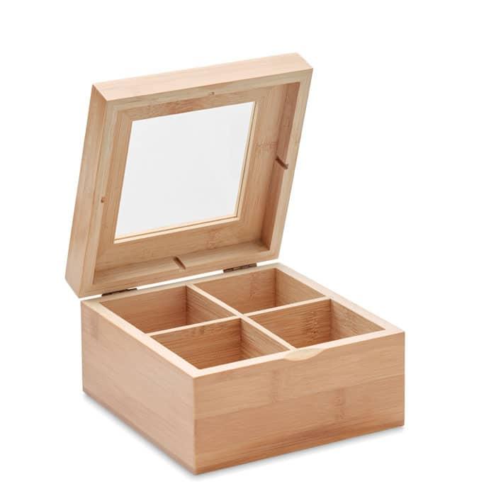Bambusbox með hólfum